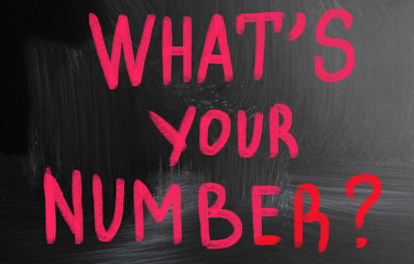 what's your number concept
