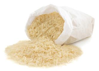 rice in paper bag