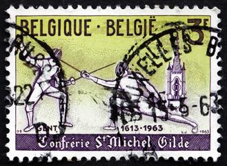 Postage stamp Belgium 1963 Modern Fencers