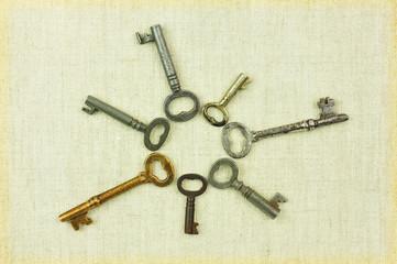 ハートの古い鍵
