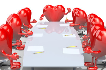 many hearts meeting around the table