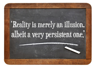 reality as illusion quote