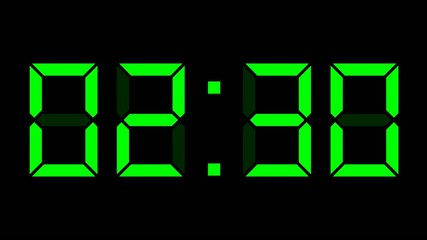 digital clock full 24h time-lapse