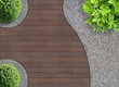 canvas print picture - Gartenarchitektur Detail von oben