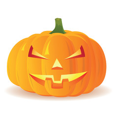 Halloween Pumpkin isolated on white background, vector