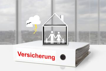ordner Versicherung Haus Familie Unwetter Schäden