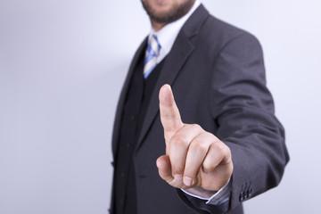 Geschäftsmann Zeigefinger