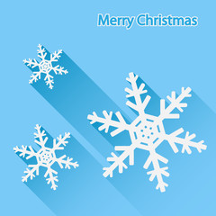 Snowflake, Christmas background.