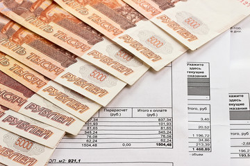 Payment of utilities and Russian money