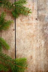 Holzhintergrund mit Reisig
