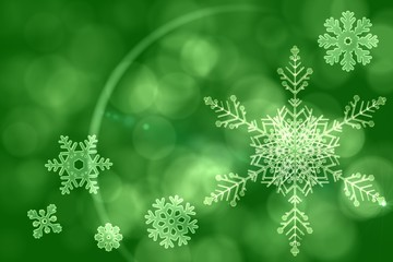 Green snow flake pattern design