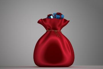 Santa sack full of gifts
