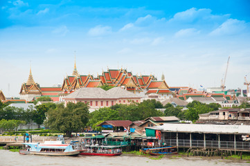 Thai royal grandpalace near the river