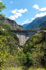 Dam on the Romanche river (France)
