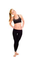 Junge Frau macht Gymnastik