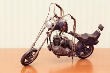 vintage toy, motorcycle tin