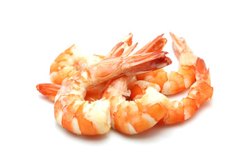 shrimp isolated on white background