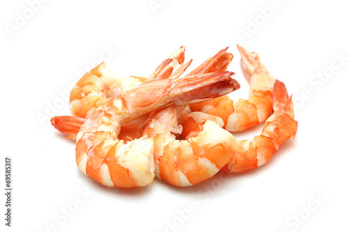 Leinwandbild Motiv shrimp isolated on white background
