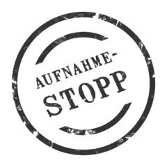 sk99 - StempelGrafik Rund - Aufnahmestopp - g1519