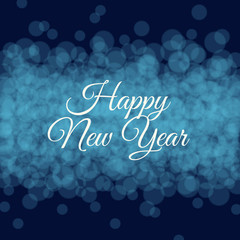 Happy new year card, glitter background, twinkled bright