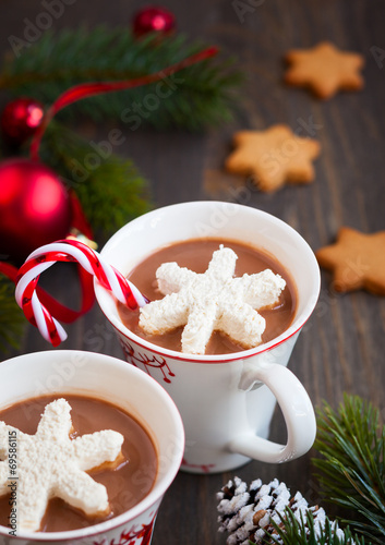 canvas print picture Hot chocolate with marshmallows