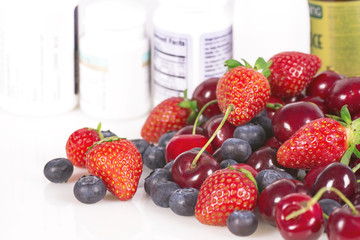 Berries, vitamins and nutritional supplements