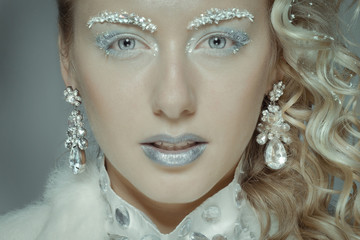 Новогодний макияж. Снежная королева