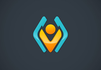 design element people business vector logo