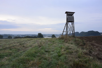 Scenery with hunt tower