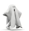 Leinwandbild Motiv omino fantasma che cammina