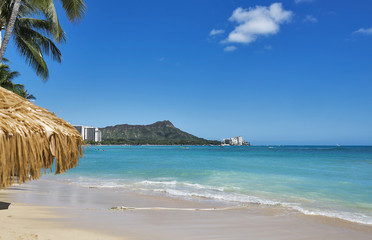 Diamond Head and world famous Waikiki Beach