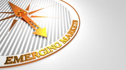Emerging Markets on White-Golden Compass.