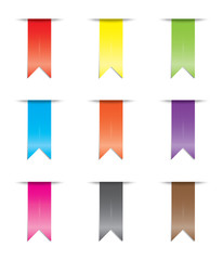 Illustration of a coloured ribbon set