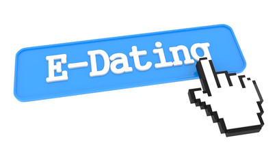 E-Dating Button with Hand Cursor.