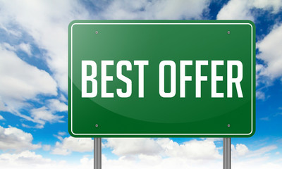 Best Offer on Green Highway Signpost.