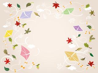 Illustration Herbstfreude, soft/ mit freiem Textfeld