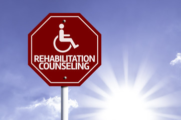 Rehabilitation Counseling with Disabled Icon sign