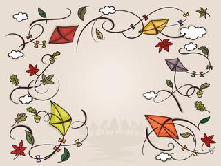 Bunter Herbst, mit freiem Textfeld