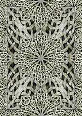 Ancient Arabesque Ornament Stone Artwork