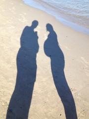 ombre in spiaggia