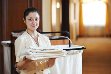 chambermaid at hotel