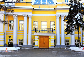 Facade of a building with columns