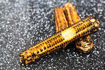 Taken Bite of Grilled Corn
