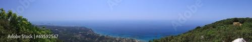 canvas print picture Meerblick auf Korfu