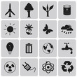 Green, Ecology and environment black icon set3. Vector Illustrat