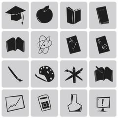 Vector Education Black Icons set1. Illustration eps10