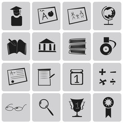 Vector Education Black Icons set2. Illustration eps10