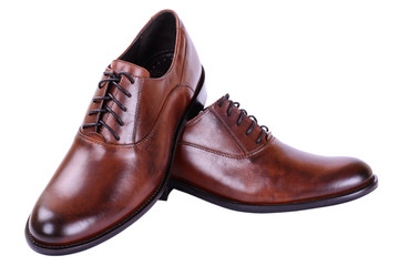 Men's autumn shoes with laces