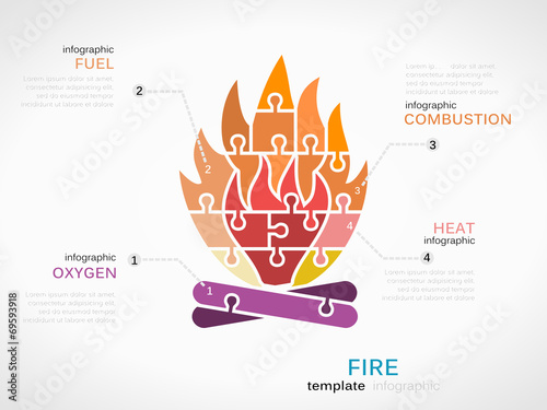 Infographic Template With Fire Symbol Buy Photos Ap Images