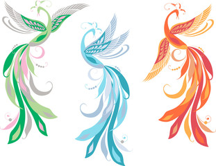 three fairy birds